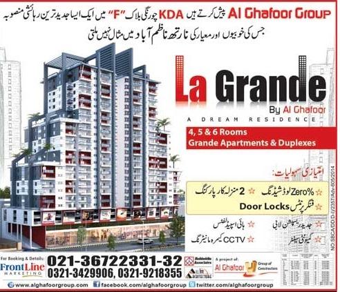 Booking La Grande Karachi Property Blog