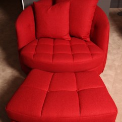 Large Tub Chair Pottery Barn Wingback Slipcover Giant And Ottoman Property Furniture 25056 F