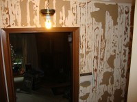 removing wood paneling before and after | My Web Value