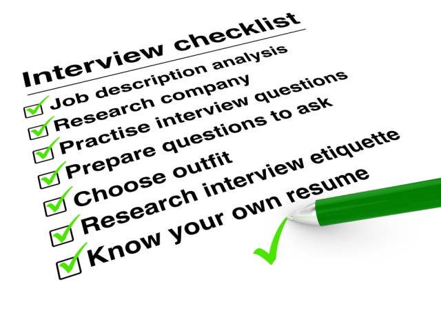 Property Management Interview Checklist On Clip Board