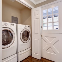 Laundry Washer And Dryer In A Unit's Closet Top Rental Amenities
