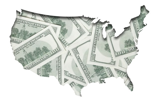 Hundred Dollar Bill Map of United States Which State Pays the Highest Property Manager Salary