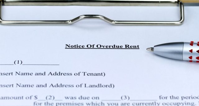 Overdue Notice of Rent Document When Tenant Not Paying Rent