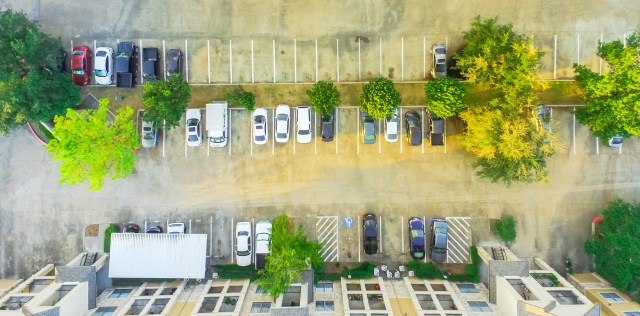 Aerial View of Apartment Parking Lot Multifamily Parking Policy Tips