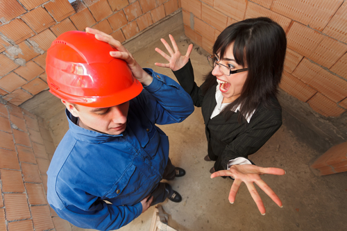 Property Manager Yelling At Construction Worker For 6 Tips to Avoid Low Quality Contractors Blog