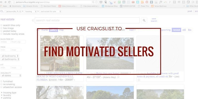 Craigslist Real Estate Ads that Find Motivated Sellers