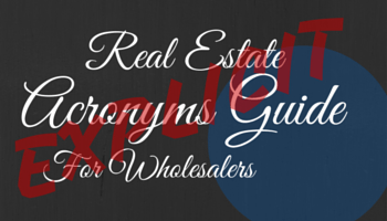 real estate acronyms guide
