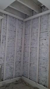 Encapsulating mold contamination.