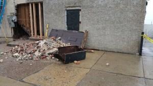 Debris generated on job.