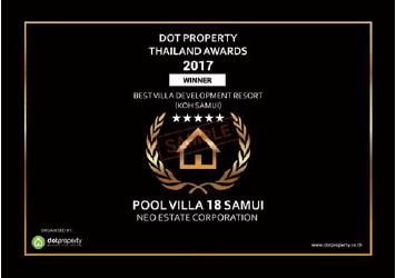 Neo Estate Pool Villa 18 Samui Awards