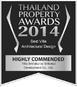 Neo Estate Villa Sritrakul Awards