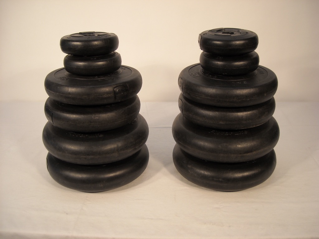 Black Dummy Plastic Weight Discs