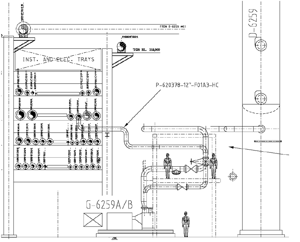 hight resolution of piping layout design