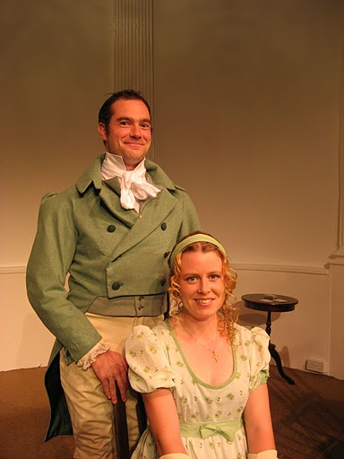 Simon Balcon and Kerry Steed in Lizzy, Darcy and Jane