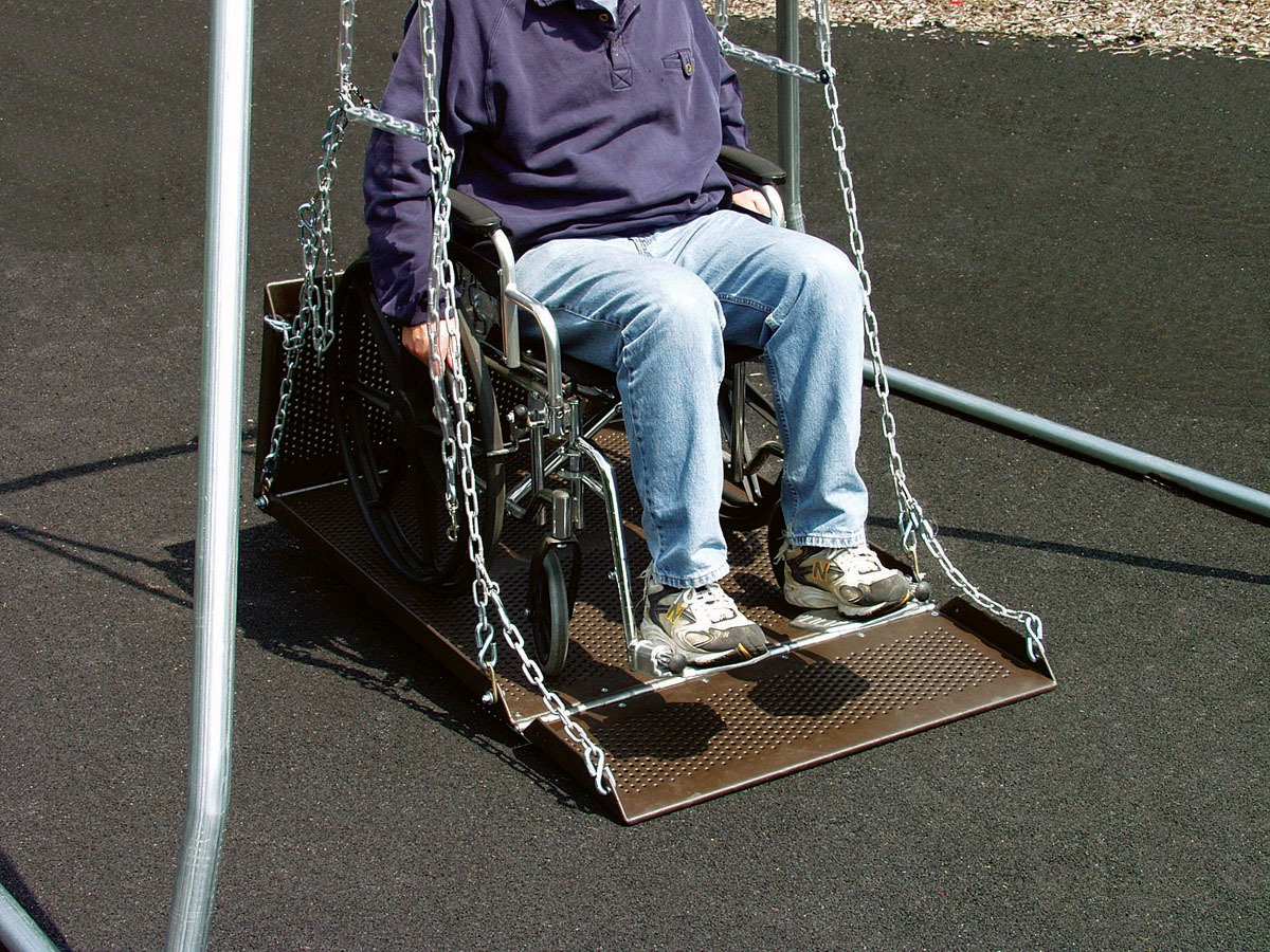 wheelchair equipment desk chair glasgow swing platform only pro playgrounds the
