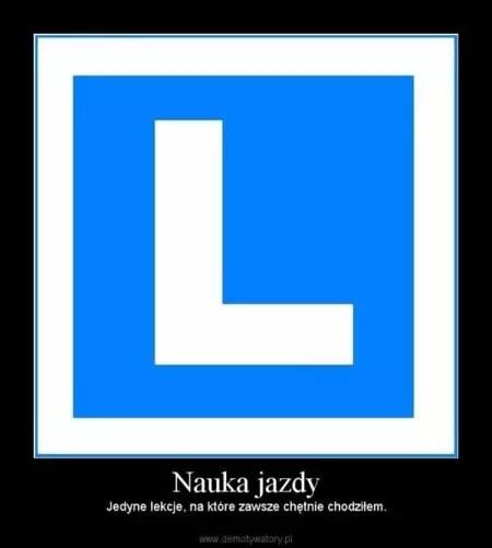 Nauka jazdy - вывески на польском