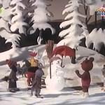 Видео урок польского языка Miś Uszatek 4 серия Bałwanek / Снеговик