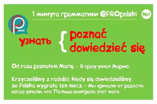 Одна минута грамматики ProPolski 1: узнать
