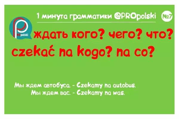 Одна минута грамматики ProPolski 7: ждать кого чего что