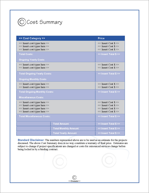 Proposal Pack Transportation #4 Software Templates Samples