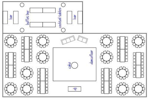 Proposing Dreams Wedding & Events: layouts, maps, diagrams