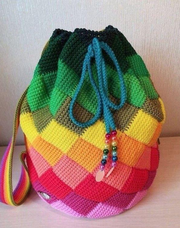 Рюкзак из цветных квадратиков