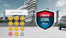 Tela de login do jogo Caminho Legal