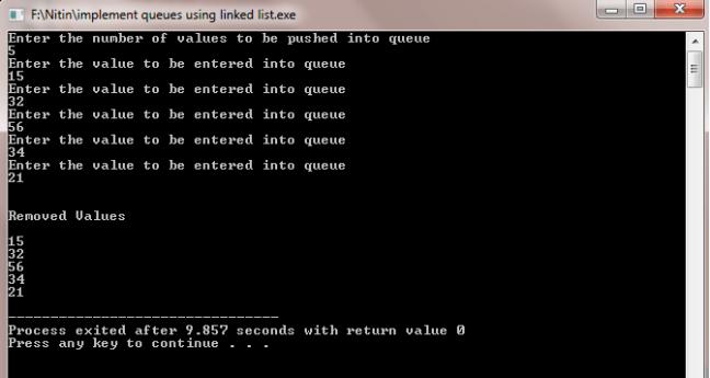 implement queue using linked list c++