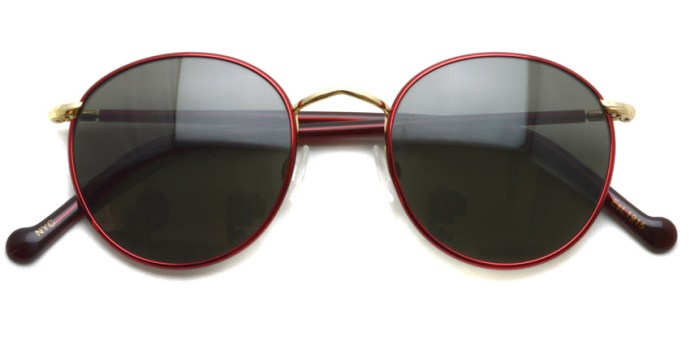 MOSCOT  /  ZEV Sun  /  Ruby - Gold - G15 /  ¥31,000 + tax