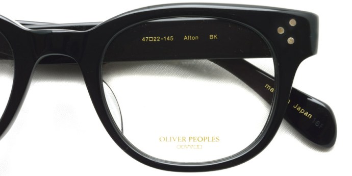 OLIVER PEOPLES / AFTON / BK / ¥29,000 + tax