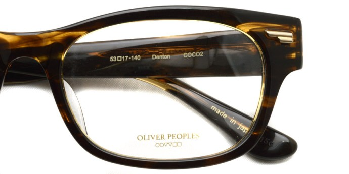 OLIVER PEOPLES / DENTON / COCO2 / ¥29,000 + tax