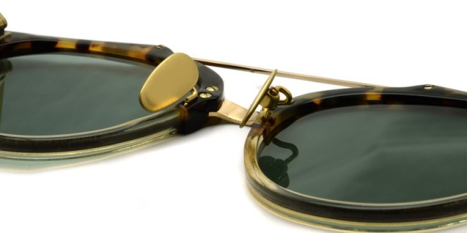 A.D.S.R. / RED03 / HavanaYellow & ClearBeige - GoldMetal - LtGreenLens /  ¥20,000 + tax