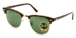 "RayBan / RB3016 ""CLUBMASTER"" / W0366 / ¥19,000 + tax"