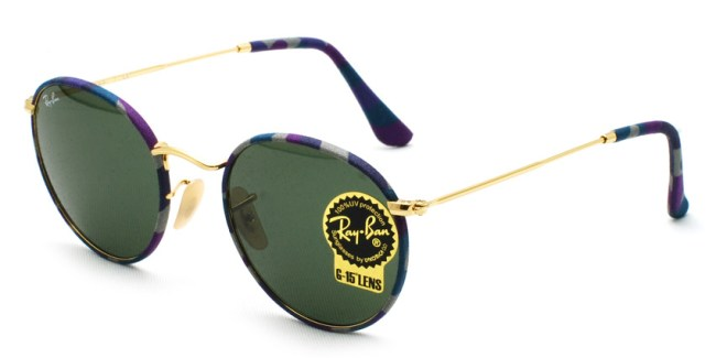 "RayBan  /  RB3447JM ""ROUND METAL CAMOUFLAGE"" / 172 / ¥21,000 + tax"