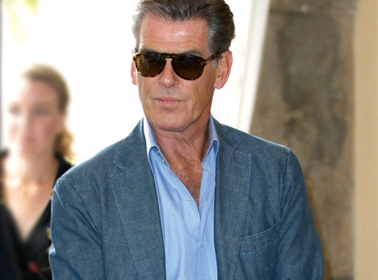 Pierce Brosnan wearing Persol 649