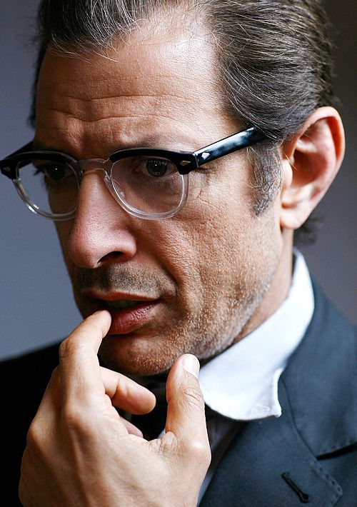 Jeff Goldblum wearing MOSCOT / LEMTOSH / BLACK - CRYSTAL