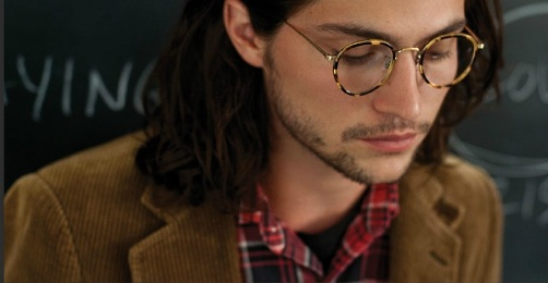 "male wearing OLIVER PEOPLES ""MP-2"""