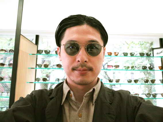 wearing OLIVER PEOPLES / MP-2 Sun / SLB - LIGHT BLUE