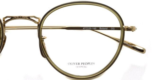 OLIVER PEOPLES / BOLAND / OG / ¥39,000 + tax