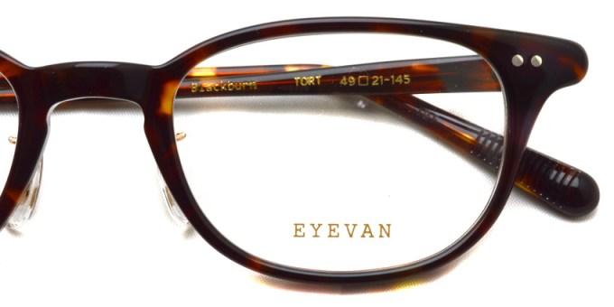 EYEVAN / BLACKBURN / TORT / ¥30,000+tax