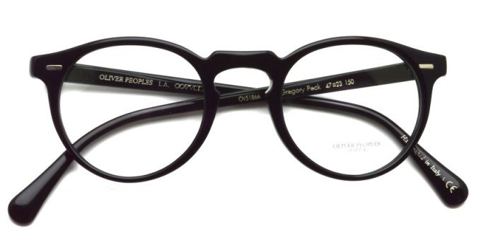 OLIVER PEOPLES / GREGORY PECK(A) OV5186A / 1005 BLACK / ¥29,000+tax