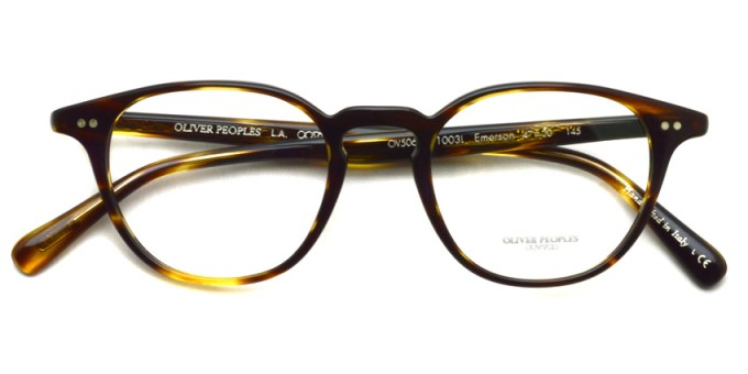 OLIVER PEOPLES / EMERSON OV5062A / 1003L  COCOBOLO / ¥32,000 +tax