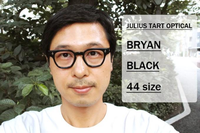 JULIUS TART OPTICAL / BRYAN / BLACK / 44 size / ¥37,000+tax