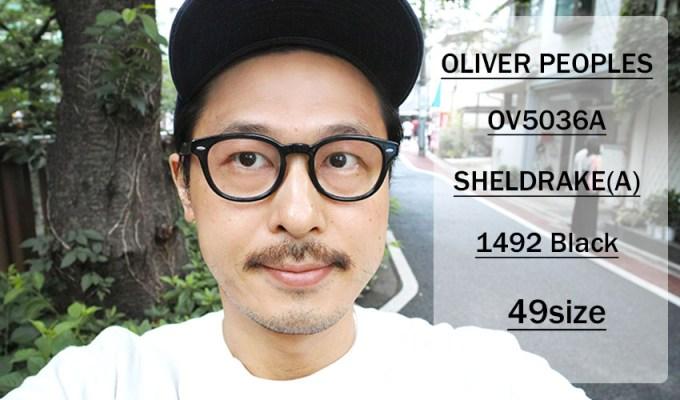 OLIVER PEOPLES / SHELDRAKE(A) OV5036A / 1492 BLACK / 49 size