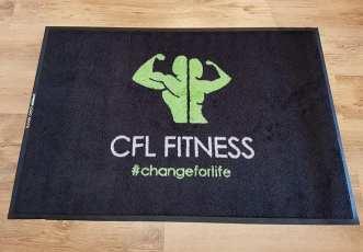 CFL Fitness logo mat 1