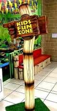 Kids Fun Zone Sign post 1