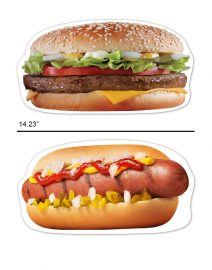 oversized hamburger hot dog photo booth prop