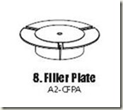 filler plate for floating cup