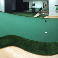 indoor golf green for west virginia university