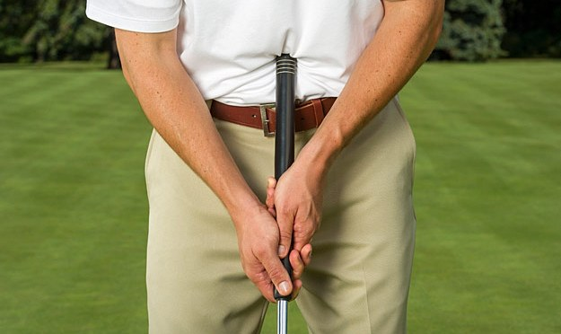 Anchored Putting Grip
